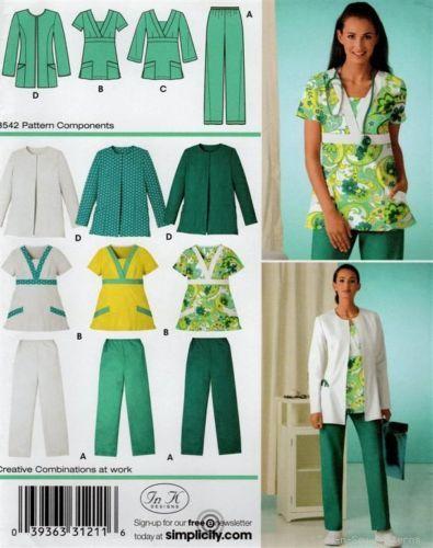 EASY Scrubs Doctor/Nurse Uniform PATTERN Jacket CUTE! | eBay