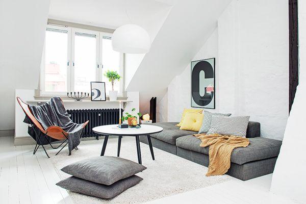Scandinavisch Interieur Sydney : Binnenkijken in een scandinavisch dakappartement in göteborg