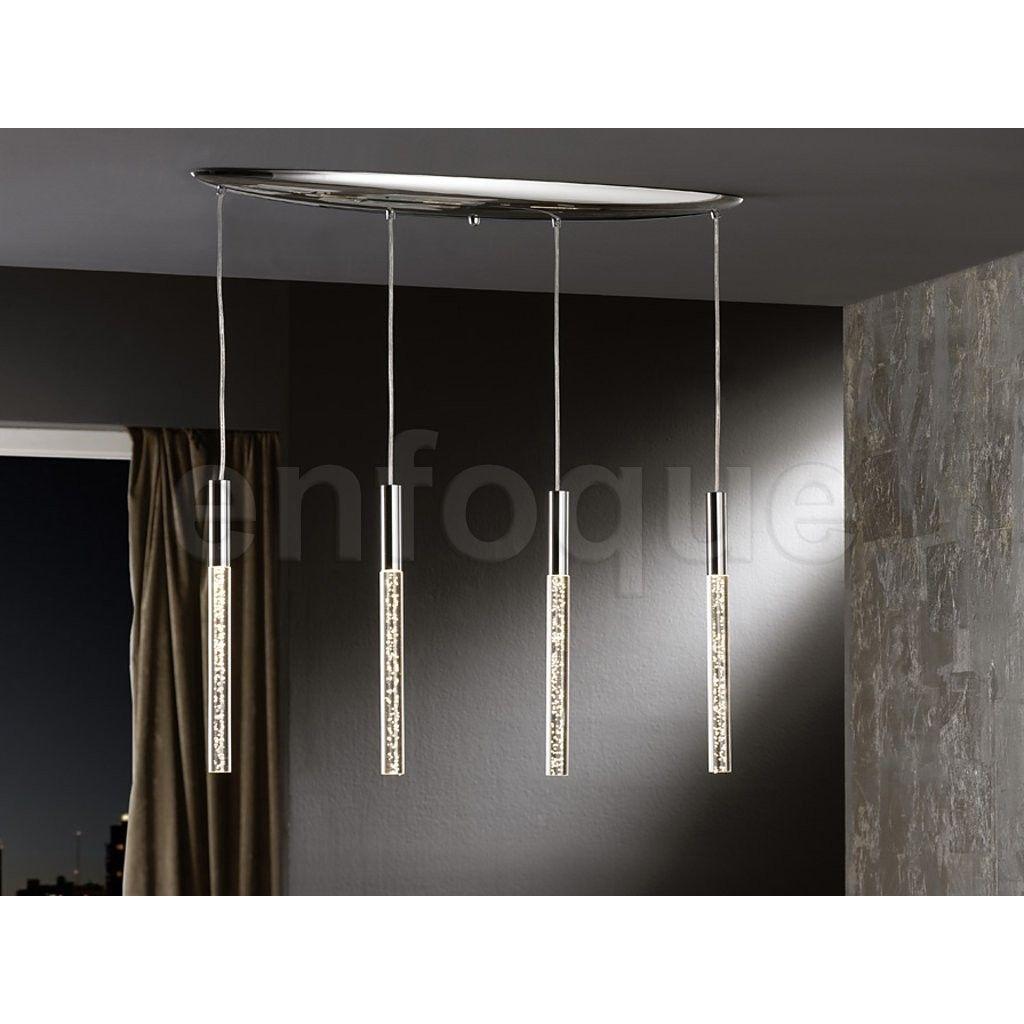L mpara de techo colgante 4 luces lineal colecci n cosmo - Lamparas originales de techo ...