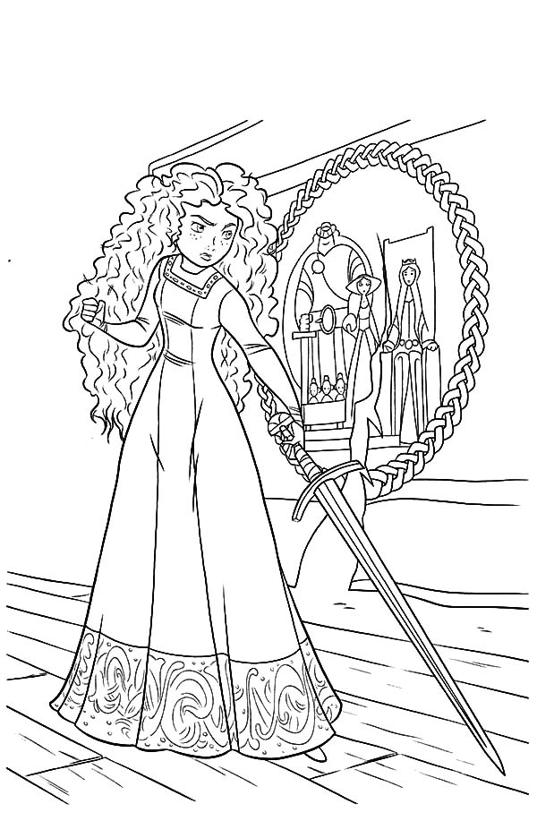 Princess Merida Is So Mad To Her Mother Coloring Pages Color Luna Princess Coloring Pages Disney Princess Coloring Pages Disney Princess Colors