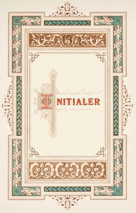 Initials in a specimen book of a Stockholm-based print shop, 1883