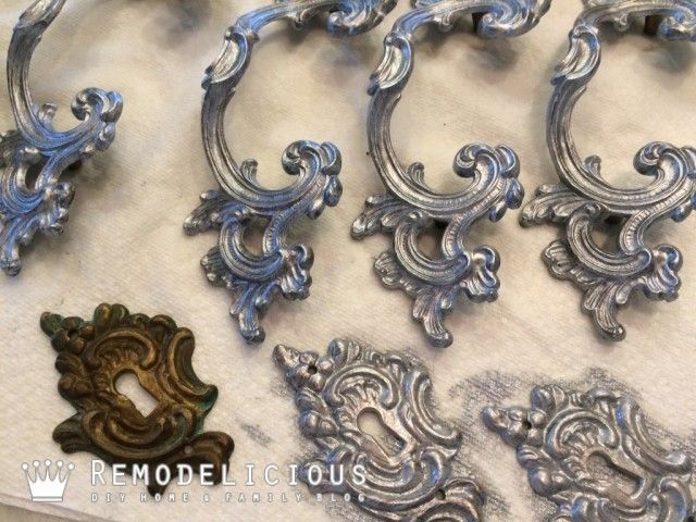 Re Painting Antique Hardware French Provincial Dresser Make Over Pretty