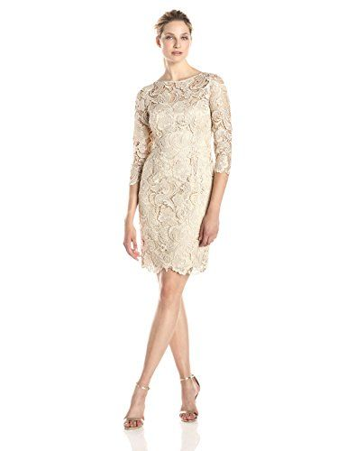 Adrianna Papell Evening Dresses Champagne
