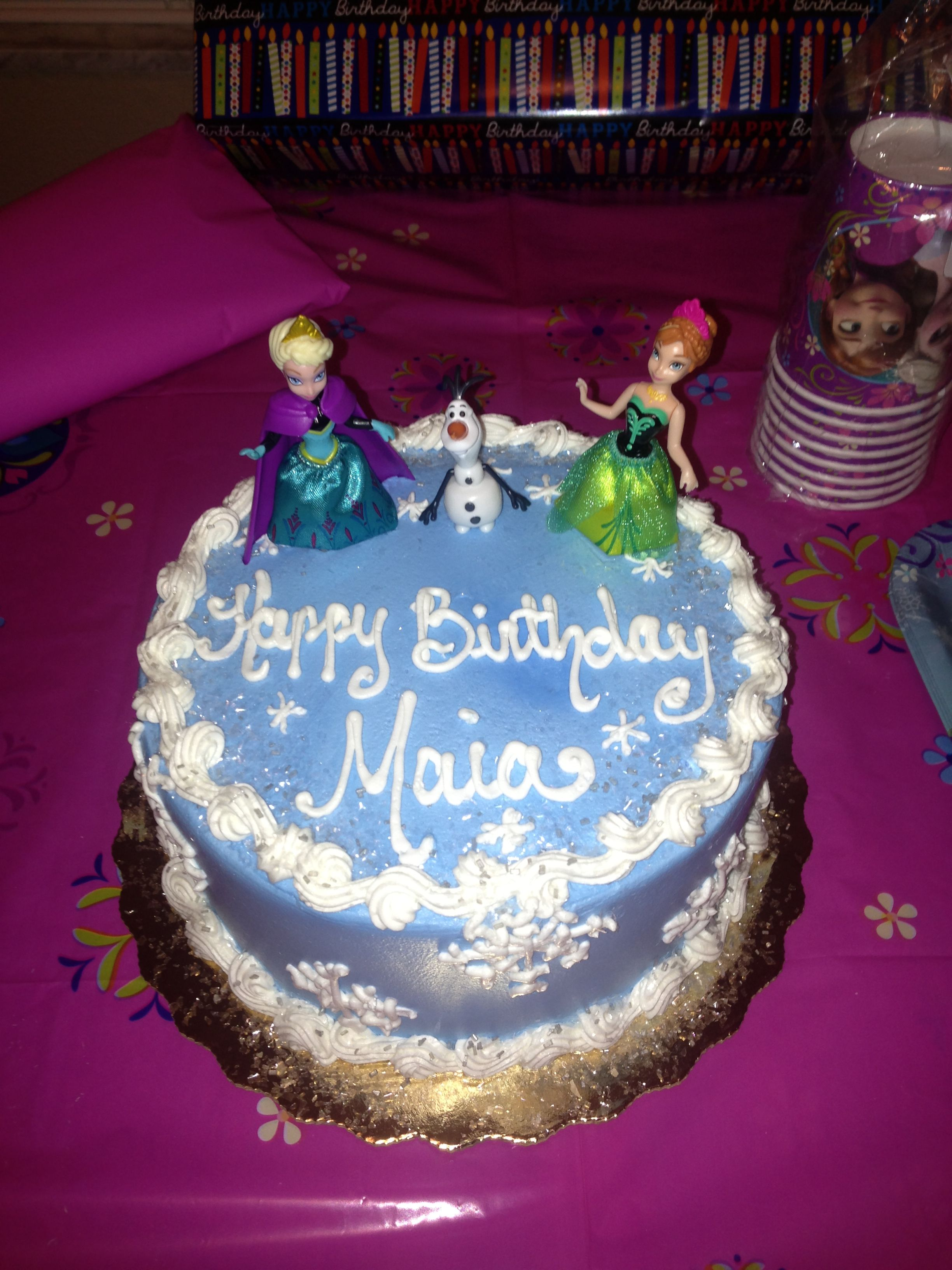 Tremendous Disneys Frozen Cake Designed It Myself And Publix Created It Funny Birthday Cards Online Elaedamsfinfo