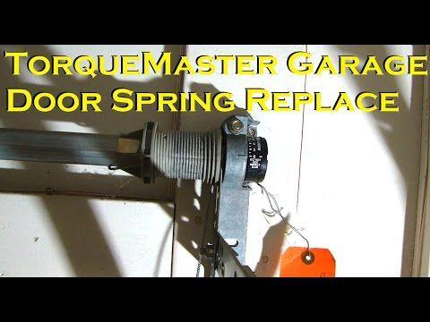 Wayne Dalton Torquemaster Garage Door Spring Replacement Youtube Garage Door Springs Wayne Dalton Garage Doors Garage Door Spring Replacement