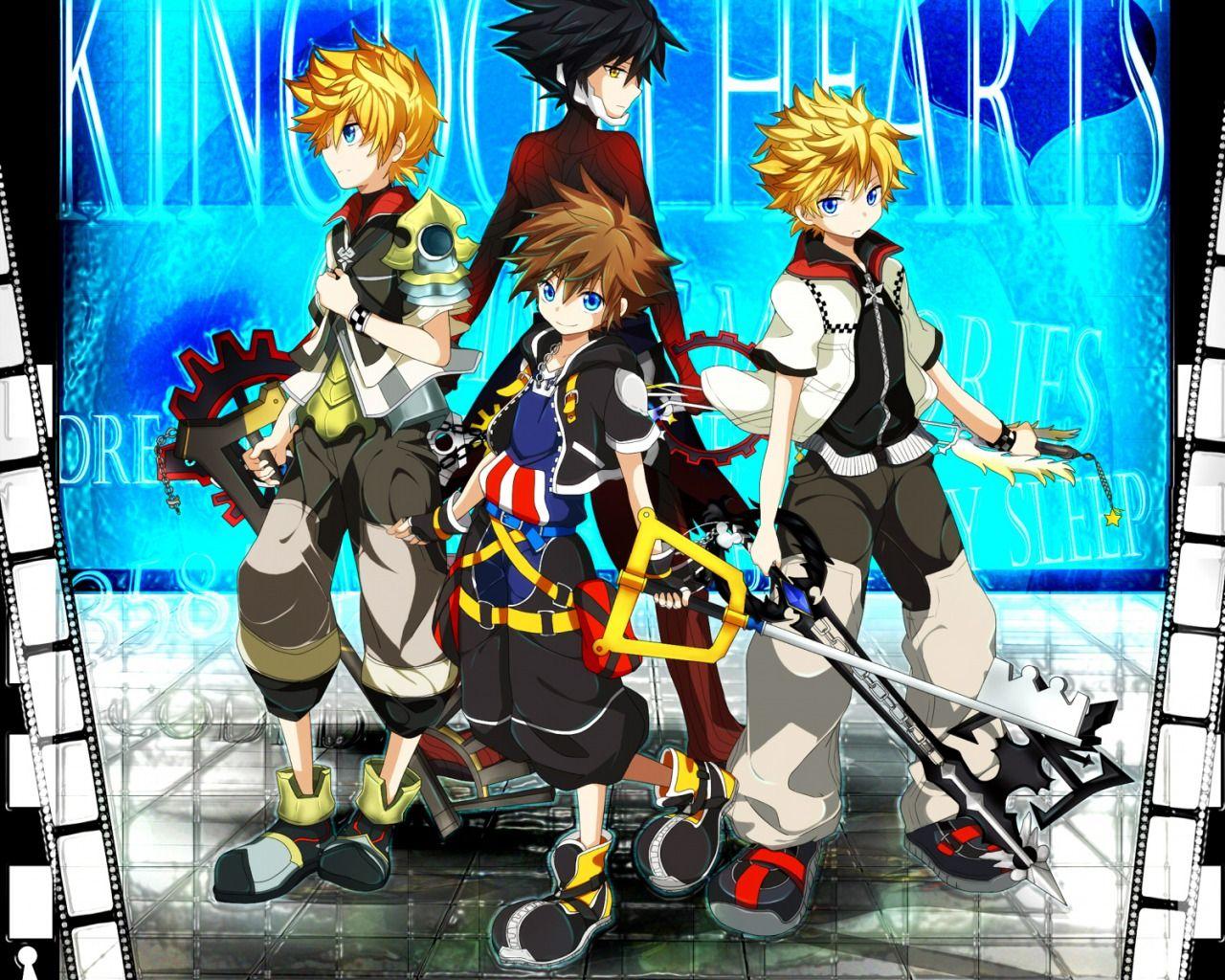 Sora, Roxas, Ventus, and Vanitas Kingdom Hearts Video
