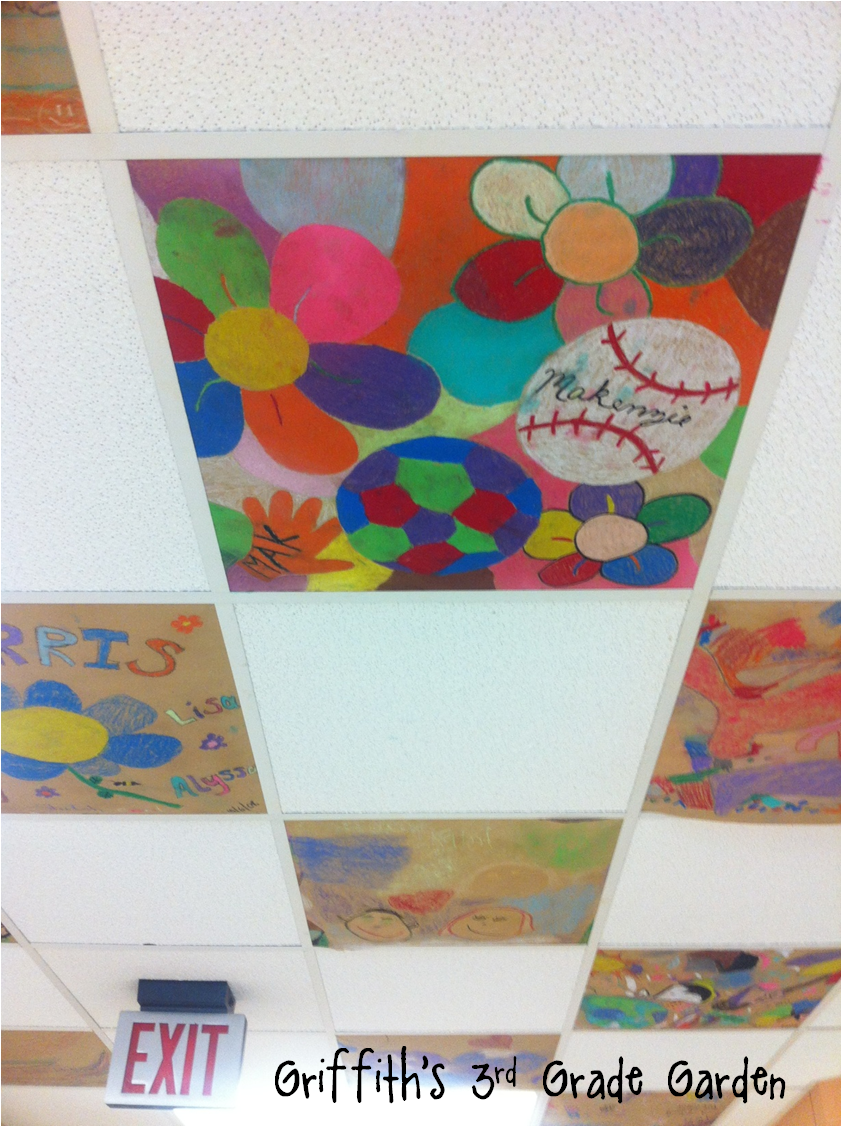 Painted ceiling tile art by students classroom decorating ideas painted ceiling tile art by students dailygadgetfo Images