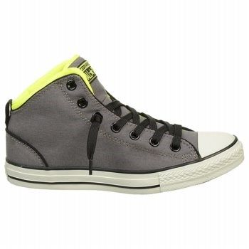15e31b00bebc Converse Kids  Chuck Taylor All Star Static Mid Top Sneakers (Charcoal Electricyel)  - 12.0 M