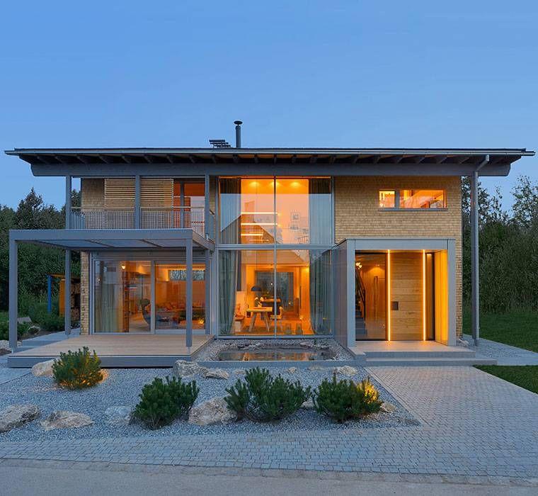 Hausbau moderner baustil  Modernes Satteldach im oberbayerischen Stil | Haus | Pinterest ...