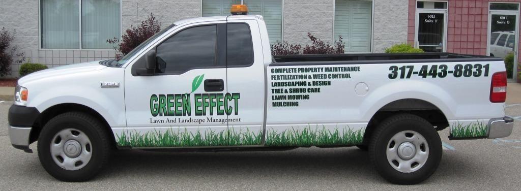Green Effect Lawn & Landscape Maintenance / truck graphics