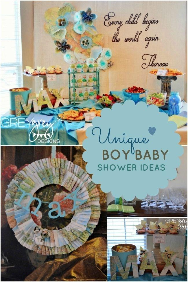 Boy Baby Shower Ideas Inspirations Baby Showers Pinterest