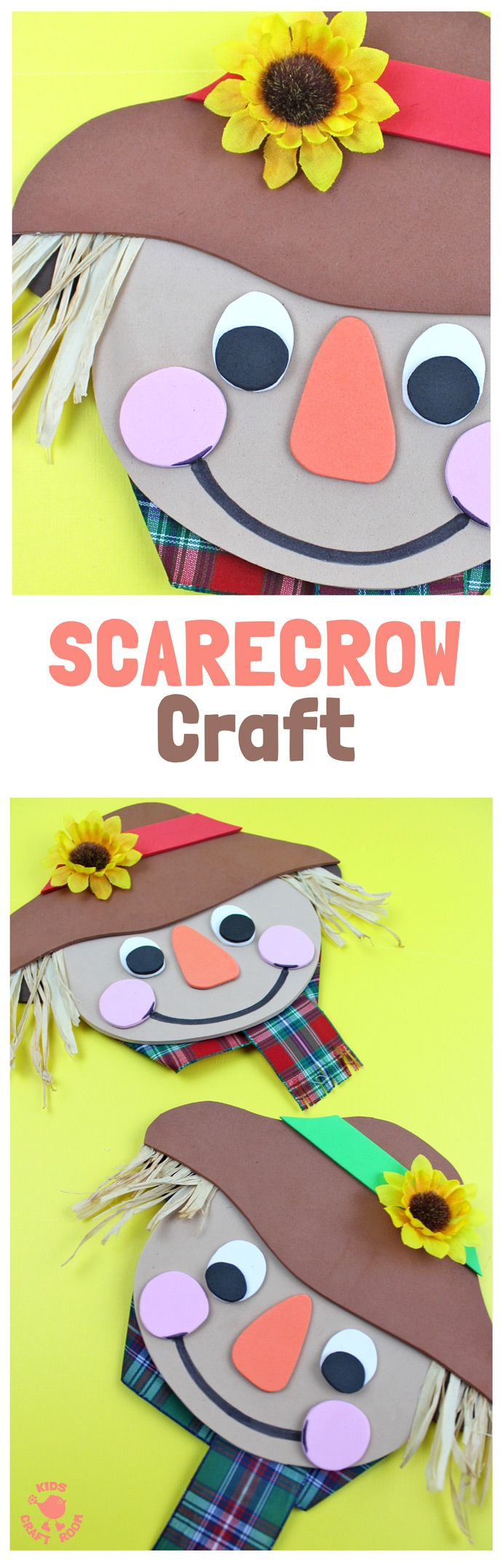 Cute Foam Scarecrow Craft for the Kids to DIY during Fall  Kids