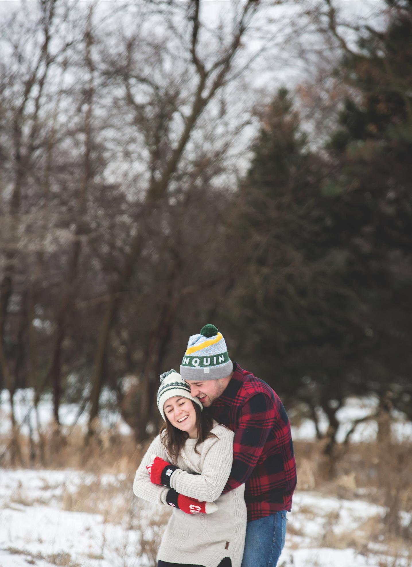 Winter Engagement Photos - Moments -by Lauren - Hamilton, ON
