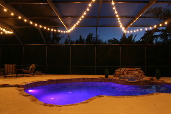 Pool Deck U0026 Patio Lighting Photos   Tampa Lights: Wedding, Christmas, U0026  Corporate