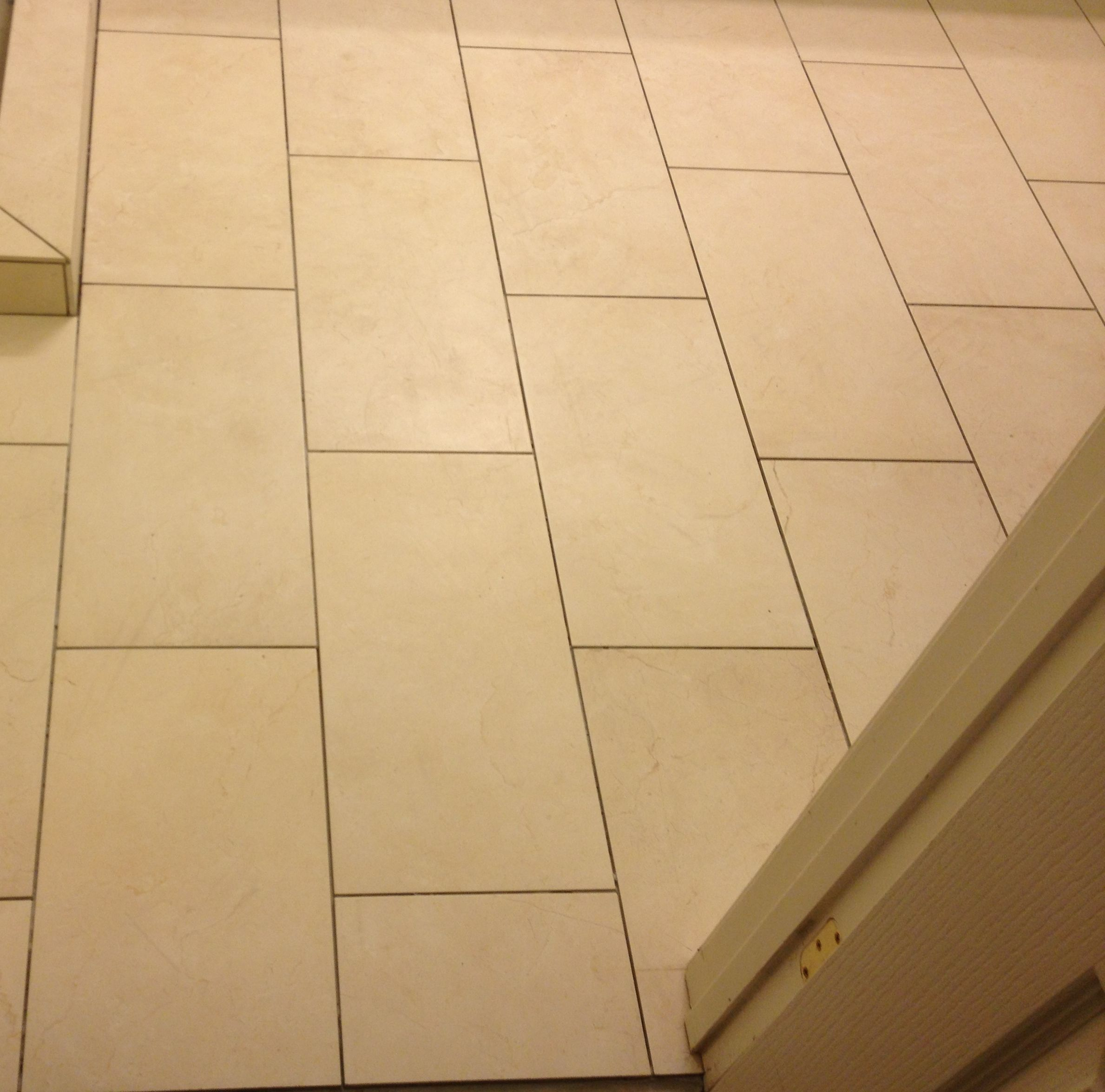 12 x 24 porcelain tile in brick lay