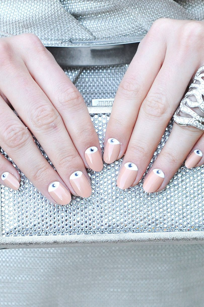 Muted camel-toned nails are brought bang up-to-date with these ...