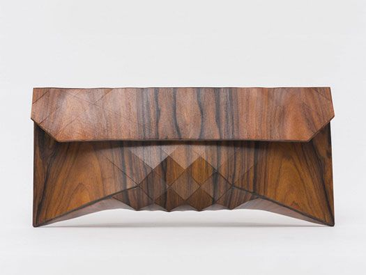 Wooden Clutch by Tesler + Mendelovitch