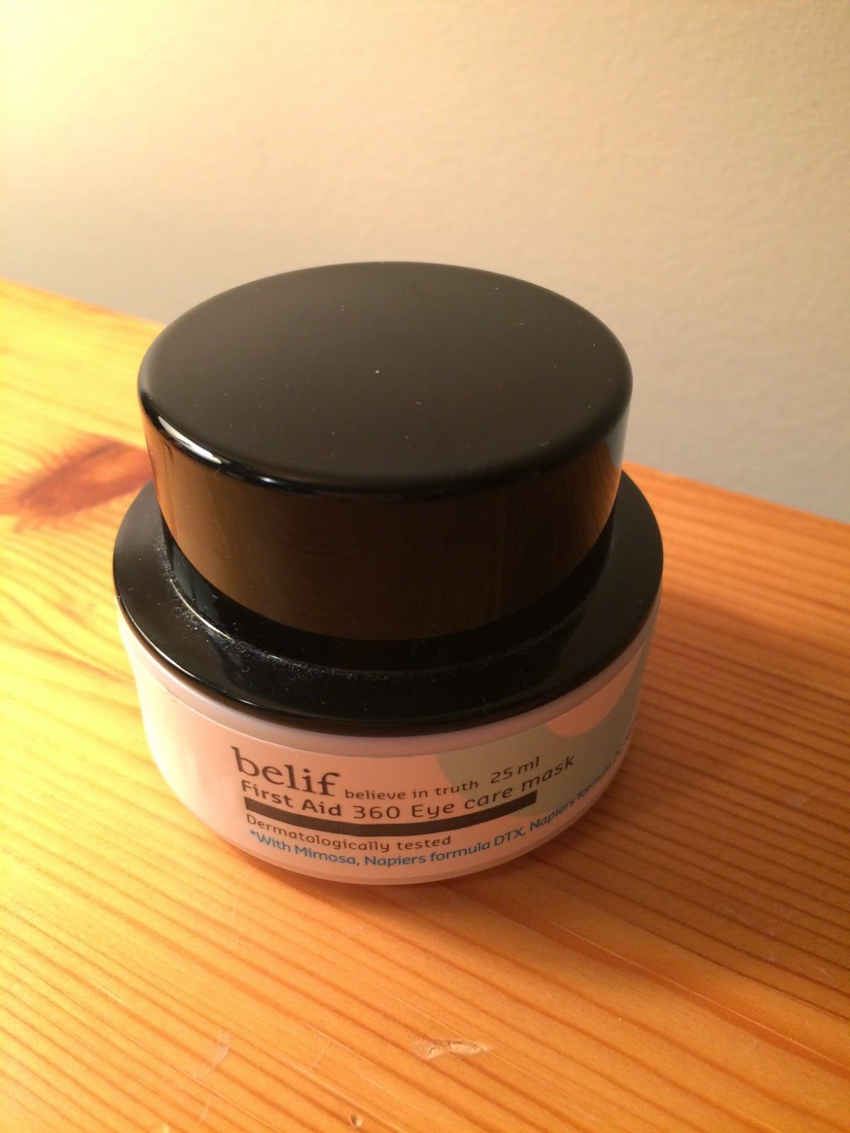 Mad About My Skin: Review: Belif First Aid 360 Eye Care Mask
