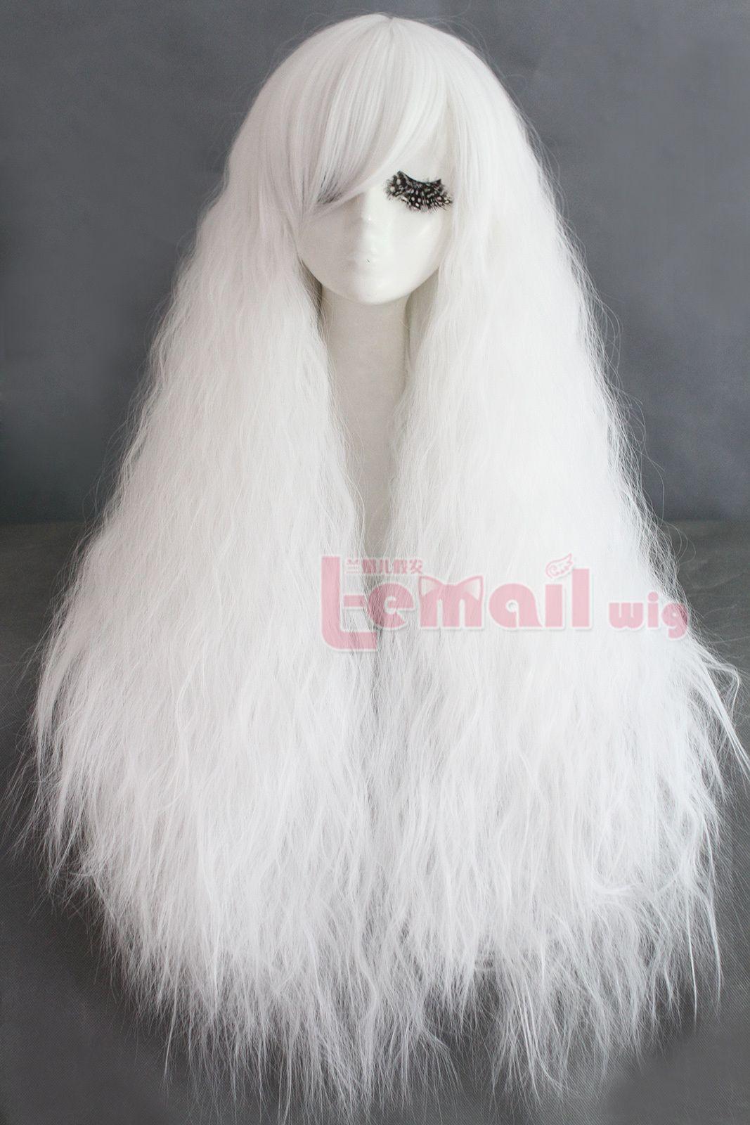 80cm Long Rhapsody White Curly Wave Cosplay Hair Wig Zy61 Cosplay Hair Wig Hairstyles Cosplay Wigs
