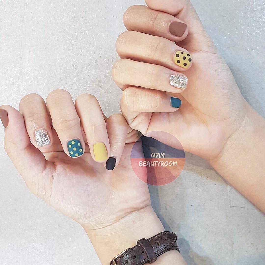 b u1ed9  nails xinh tone m u00e0u h u00e0n x u1ebbng v u1edbi l u1edbp top l u00ec hihiii  korea  design  nailart