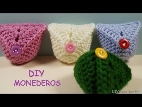 Monedero a crochet paso a paso - YouTube Soñar Pinterest
