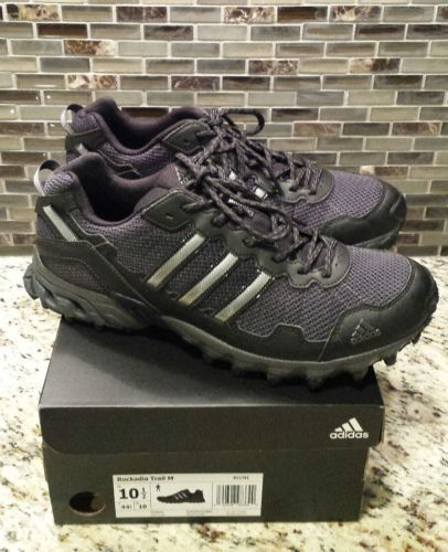 55a1c9ddb  Men  Shoes New Men s Adidas Rockadia Trail Shoes Black Gray Size 10.5  Men   Shoes