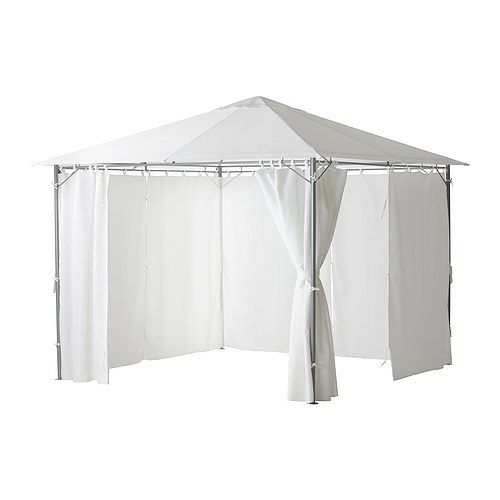 KARLSÖ ガゼボ カーテン付き, ホワイト ホワイト 300x300 cm | food