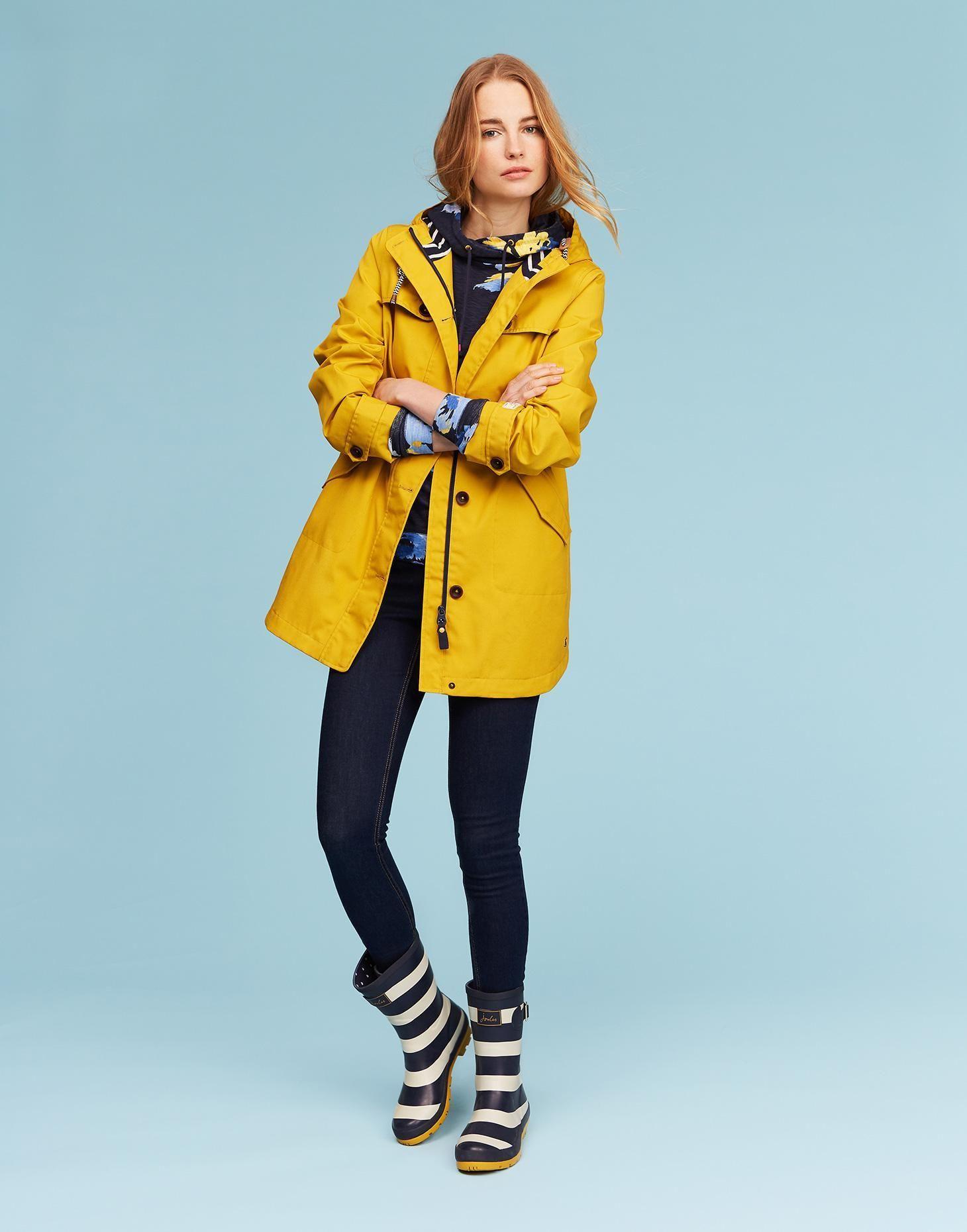 7c36c7e54 Coast Antique Gold Long Waterproof Jacket   Joules US   clothing i ...