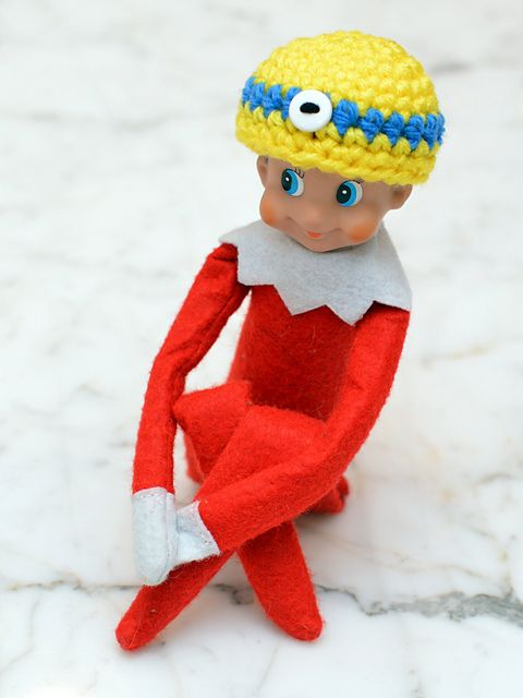 Elf on a Shelf character hats pattern by Erin Lazzarini