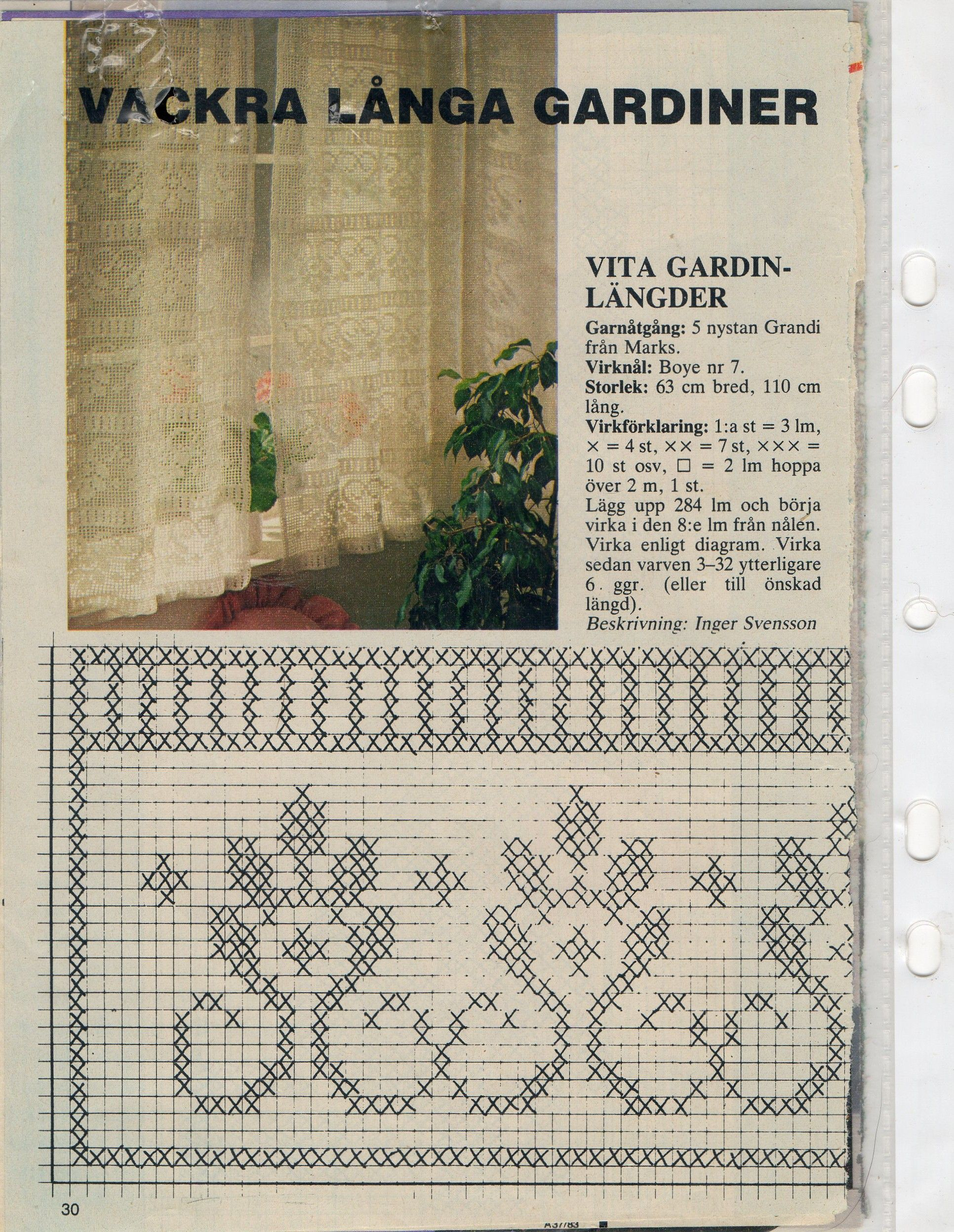 Crochet filet curtains with diagram filet crochet pinterest crochet filet curtains with diagram ccuart Images