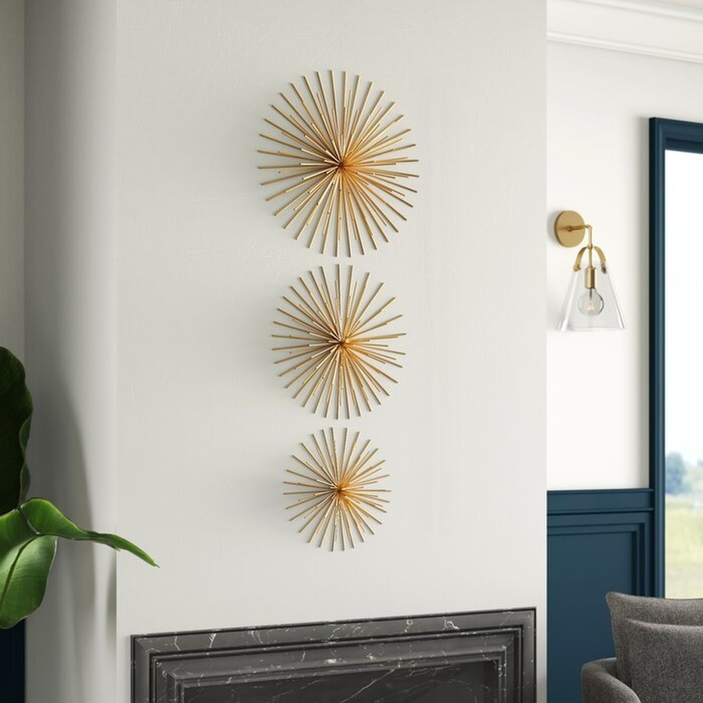 3 Piece Wall Decor Set Wayfair Gold Wall Decor Wall Decor Set Wall Decor