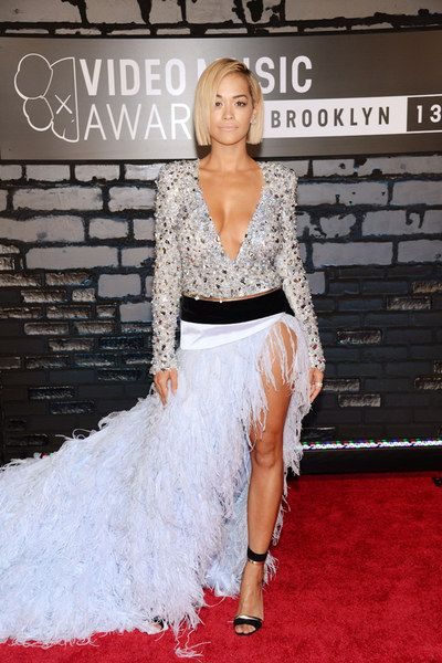 Did you see Rita Ora's charming feather number for the VMAs? That pre-red carpet call to Beyonce paid off!