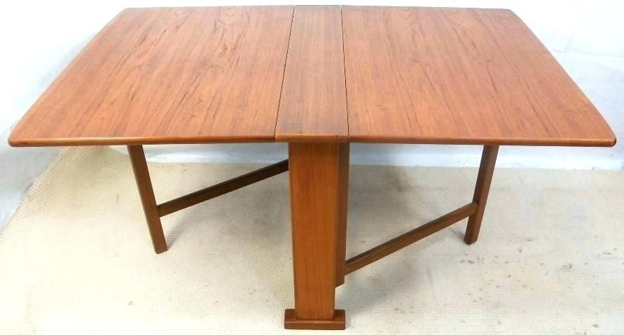 Drop Side Dining Table Narrow Leaf