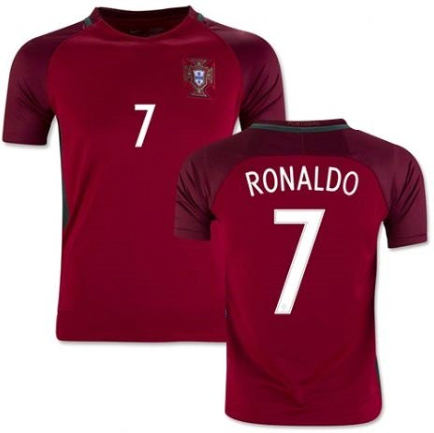 pretty nice c7f32 cd72e Portugal Ronaldo #7 Soccer Jersey with FREE Shorts Set Kit ...