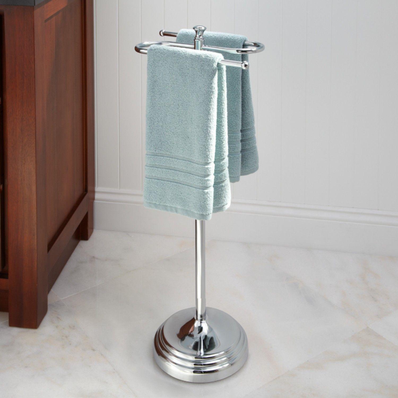 Mercer Free Standing Towel Bar Towel Holders Bathroom Accessories Bathroom In 2020 Towel Rack Bathroom Towel Holder Bathroom Bathroom Cupboards