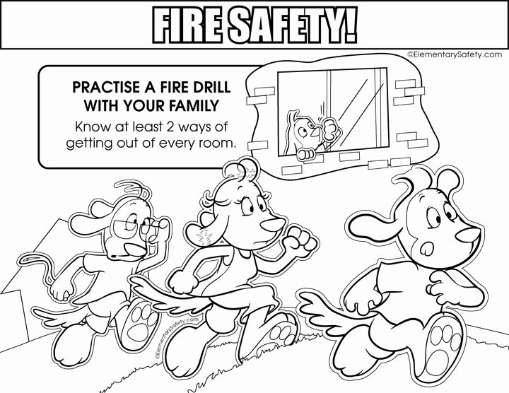 Summer Safety Coloring Pages Inspirational Coloring Fire ...