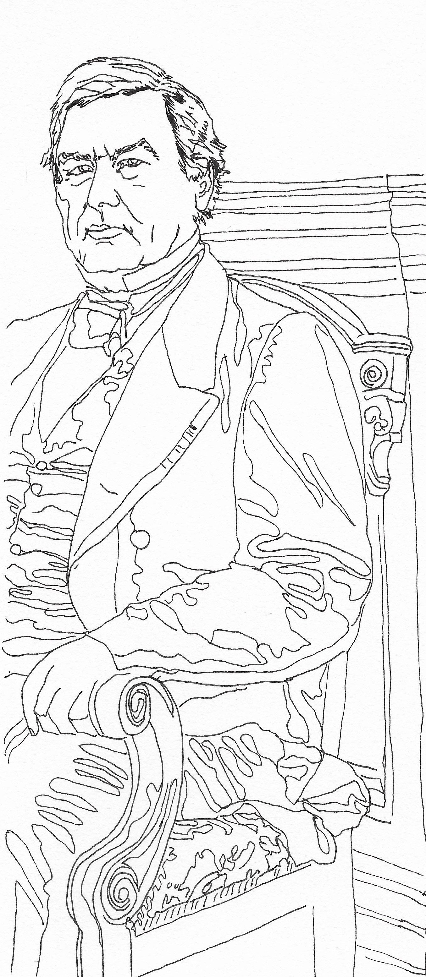 13th president millard fillmore a page from us presidents coloring book