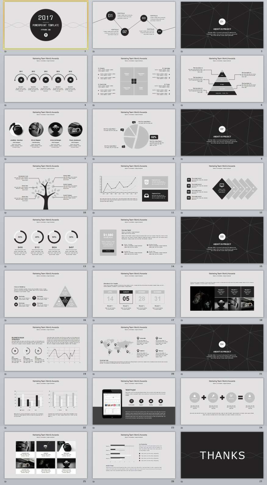 27+ Gray multipurpose PowerPoint templates #powerpoint