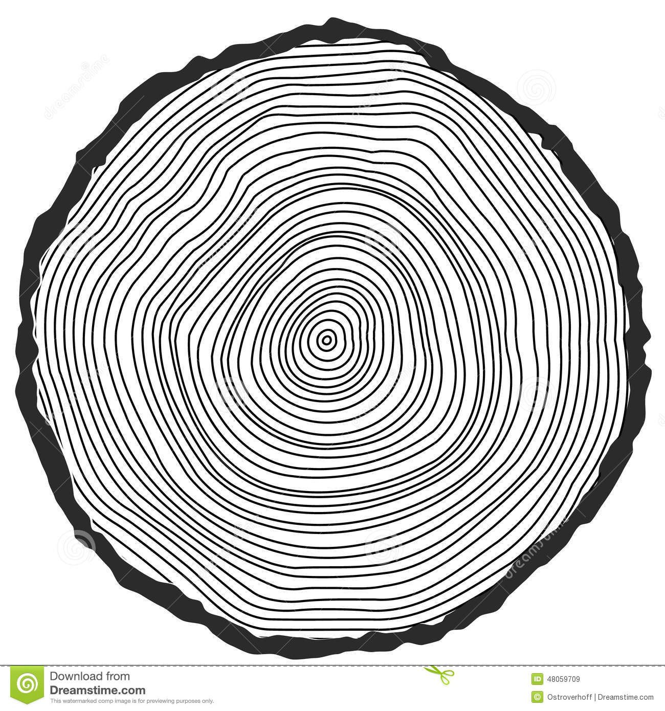 Vector Conceptual Background With Tree Rings