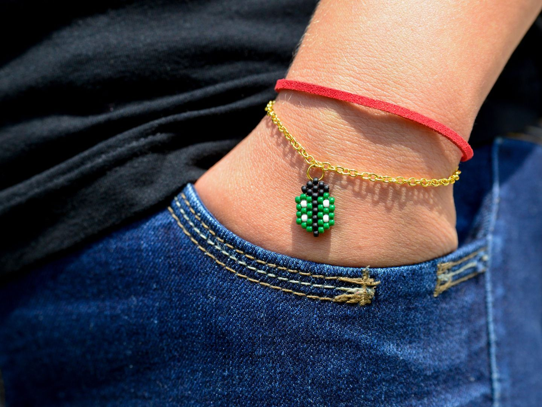 Bransoletka Celebrytka Choker Zielona Boho Etno 7371735096 Oficjalne Archiwum Allegro Delicate Bracelet Beaded Bracelets Bracelets