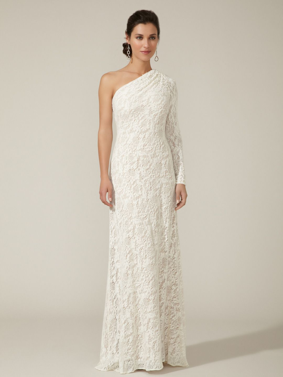 Knit Crocheted Lace Gown by Theia at Gilt. shut up this