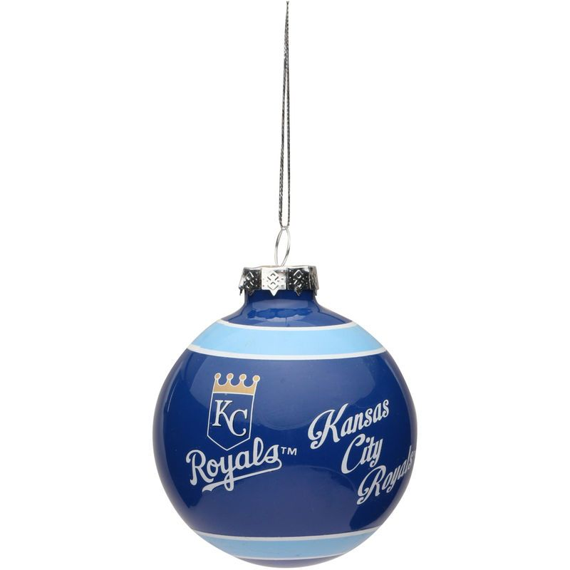 Kansas City Royals Happy Holidays Glass Ball Ornament | Kansas ...