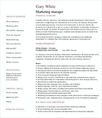 Product Marketing Manager Resume , Product Manager Resume Template - Sample Product Marketing Manager Resume