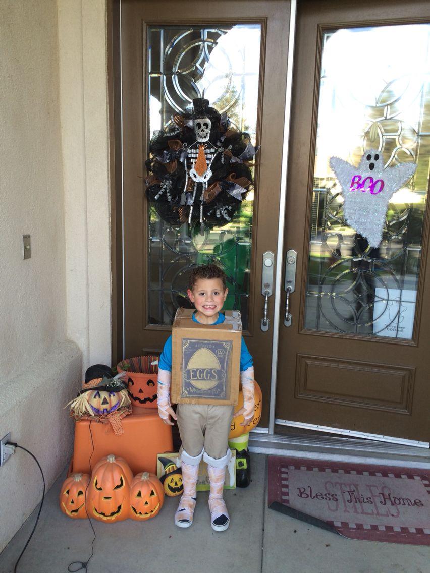 EGGS the boxtroll Halloween costume!!