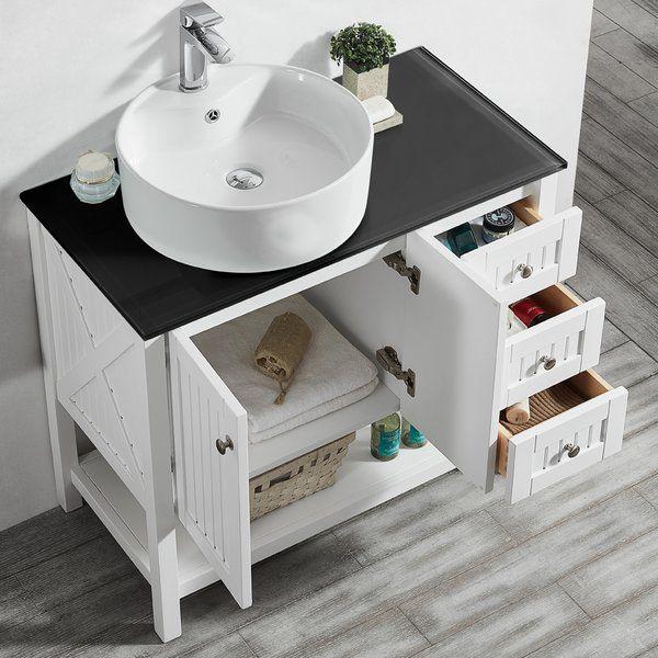 """Beachcrest Home Nadel 36"""" Single Bathroom Vanity Set ..."""