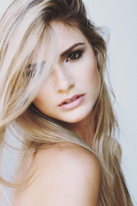 beautiful blonde hair & brown eyes!