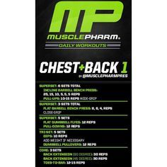 Mp workout of the day chest back 1 by musclepharmpres powered chest back 1 by musclepharmpres powered by malvernweather Choice Image