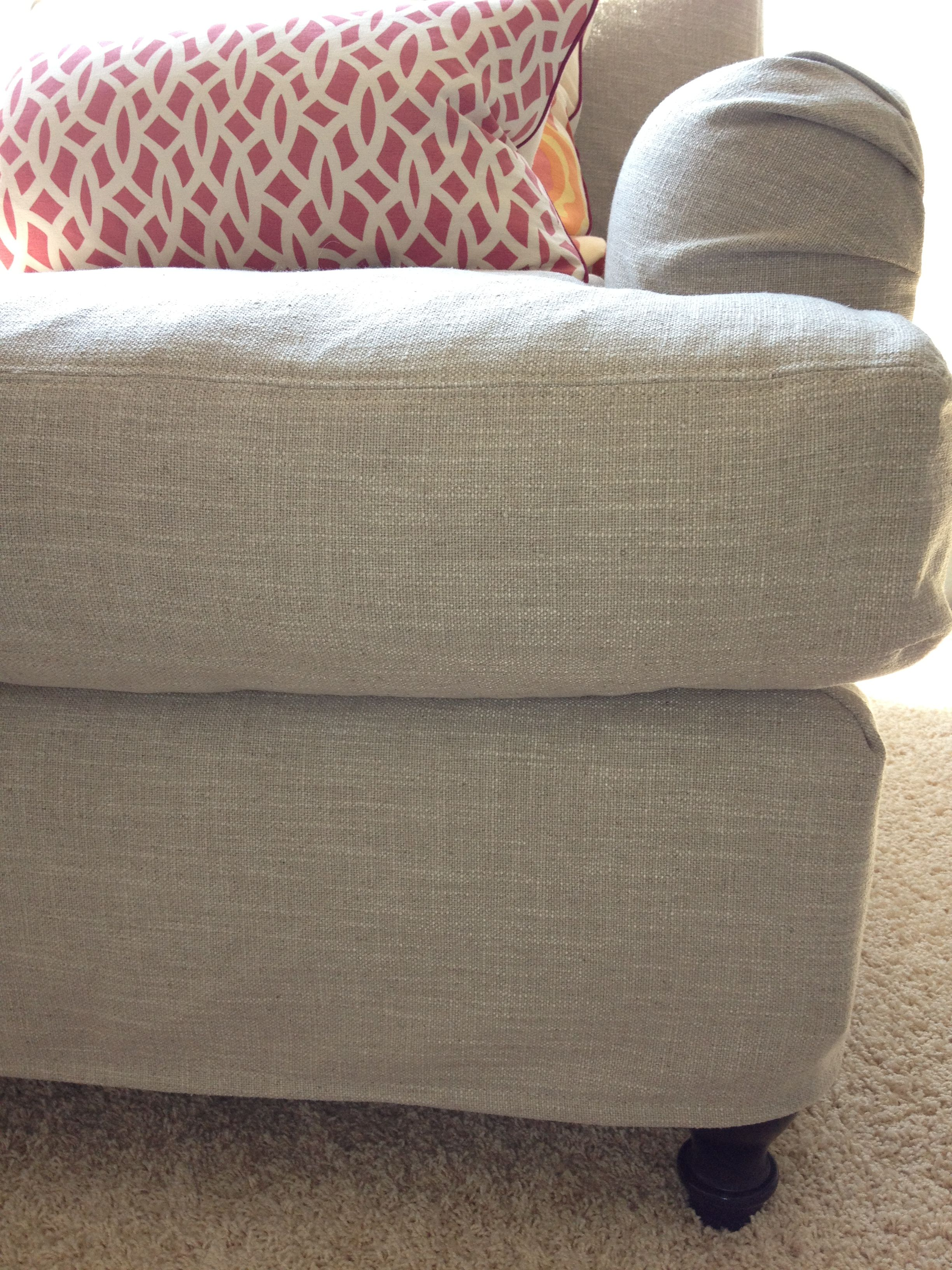 Pottery Barn Carlisle Chair Slipcover In Washed Grainsack