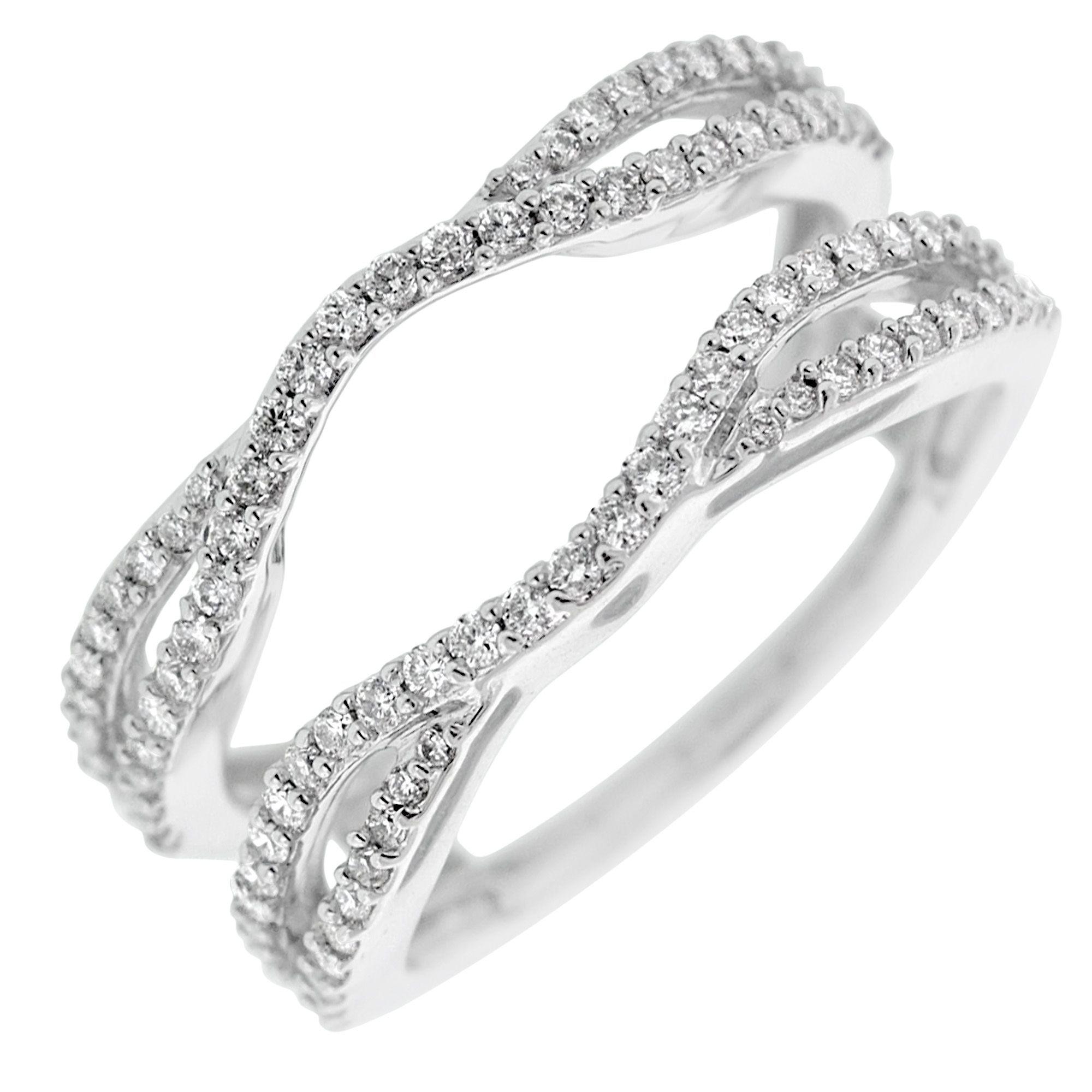 Diamond Wedding Ring Insert In 14kt White Gold 1 2ct Tw Diamond Wedding Bands Wedding Rings Diamond Wedding Rings