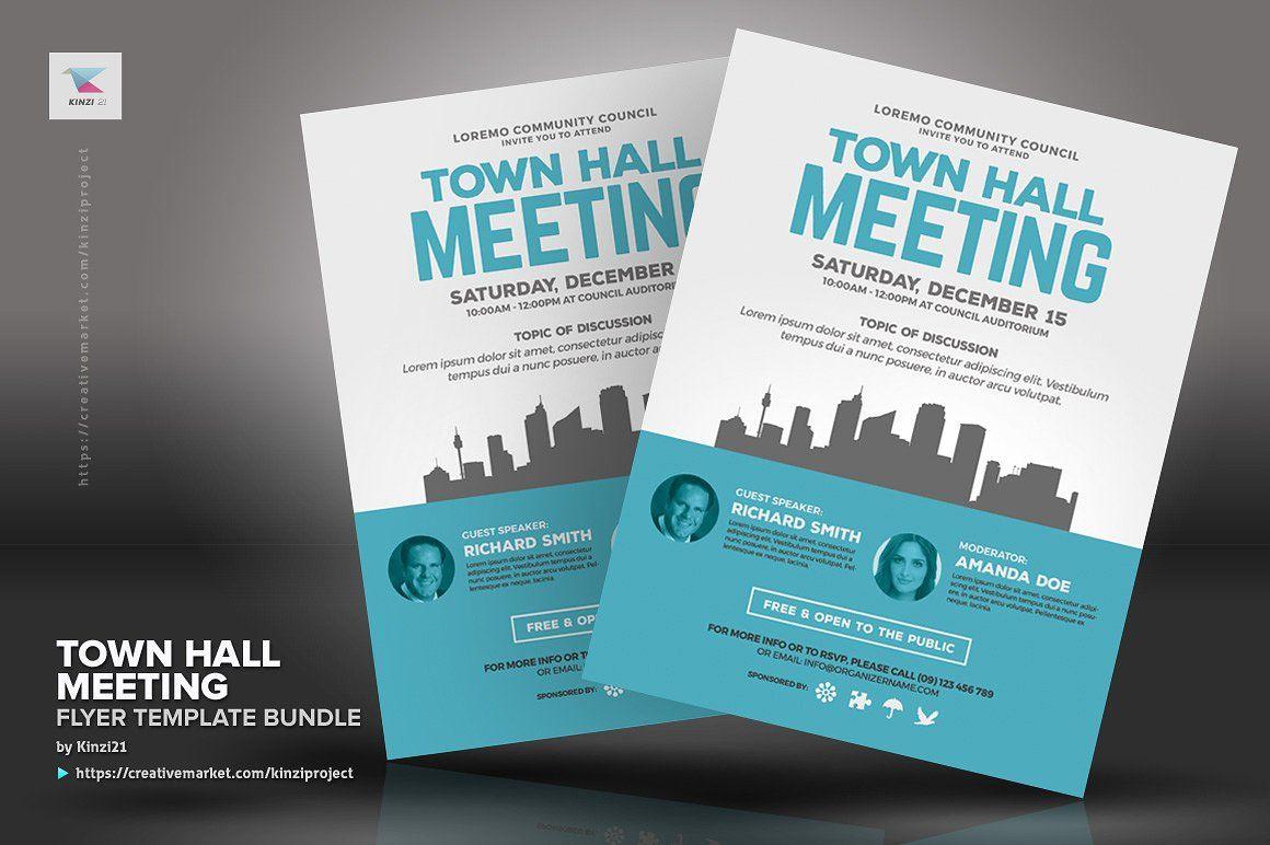Town Hall Meeting Flyer Bundle Town Hall Meeting Town Hall Flyer Town hall meeting flyer template